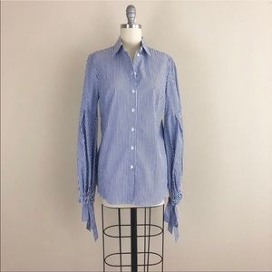 Banana Republic Riley Striped Button Down